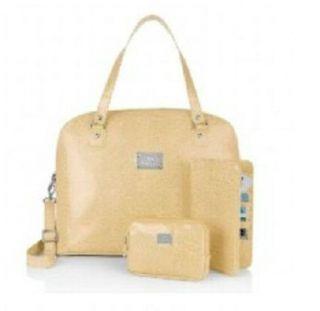 Joy Mangano LUGGAGE Madison Avenue Handbag Travel Wallet Clutch Ivory