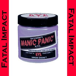 New Goth Punk 80s MANIC PANIC VIRGIN SNOW Cream Semi Permanent Dye