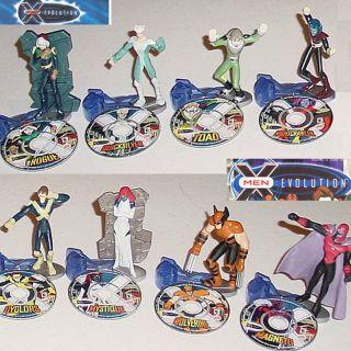 Burger King 2001 Marvel Xmen x Men Evolution 8 Toy Set SEALED w 8 Mini