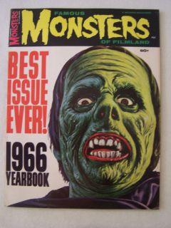 Famous Monsters Filmland Magazine 1966 Yearbook VF Boris Karloff Bela