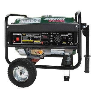 Pentagon Tools Twister 4400 Gas Portable Generator 7 HP OHV Peak 4400