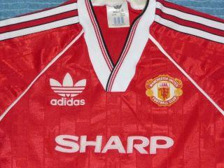 Manchester United 1988 Vintage Soccer Football Jersey Shirt Boys 26 28