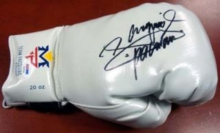 MANNY PACQUIAO AUTOGRAPHED SIGNED WHITE TEAM PACQUIAO BOXING GLOVE PSA