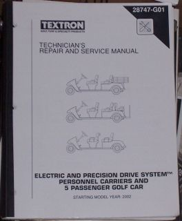 Go Golf Car Cart Electric Personnel Carrier Repair Manual Starting