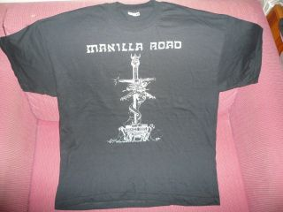 MANILLA ROAD SHIRT XL VERY RARE GREAT IRON MAIDEN MANOWAR OZZY OMEN