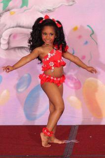Glitz JMM Original National Pageant Dress Swimwear 5T 6 7 w tear away
