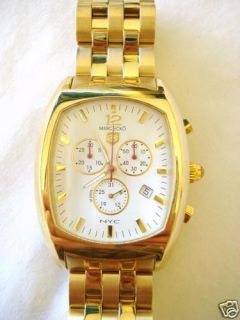 New Men Marc Ecko E16000G1 Gold Stainless Steel Watch