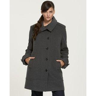 Marc New York $330 Black Asymmetrical Wool Coat 4