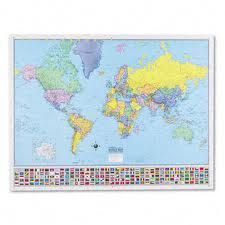 Hammond World Wall Map 50 x 38 in Spanish Mapa Español