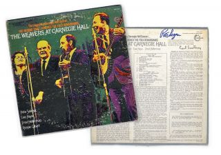 Pete Seeger Autograph The Weavers Carnegie Hall Album