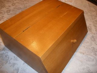 Nice Solid Wood Maple Table Top Secretary Organizer