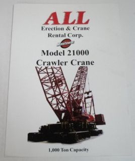 Manitowoc 1999 21000 Crawler Crane Sales Brochure