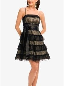 Marciano Guess Black Sheer Ruffle Lace Dress Sz S
