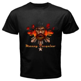 Manny Pacquiao Pacman Boxing Black T Shirt Size s 5XL