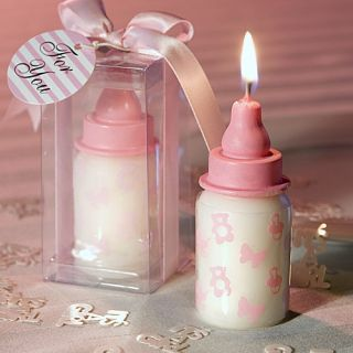 Baby Bottle Candle Baby Shower Favors Christening Party Favors