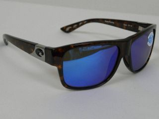 Costa Del Mar Caye Tortoise Blue Mirror 400G Glass Ret $200 Polarized