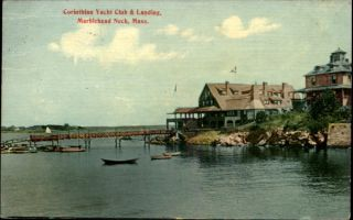 Marblehead Neck MA Corinthian Yacht Club c1910 PC