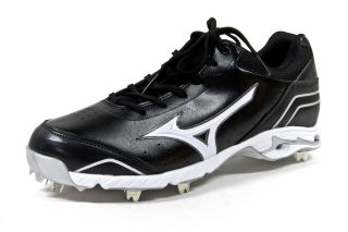 Advanced Classic 7 Metal Baseball Cleats Black White Shoes