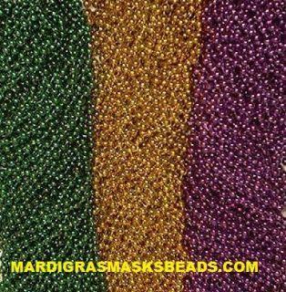 144 Purple Green Gold Mardi Gras Beads Necklaces 12 Dozen Free