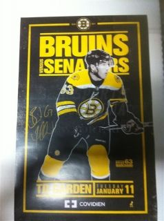 Brad Marchand Boston Bruins Signed Game Day Poster