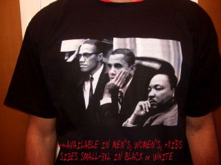 Martin Luther Obama Malcolm x Retro Black History African American