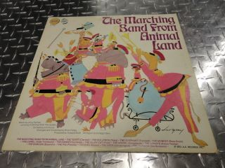 RARE The Marching Band from Animal Land Record 1972 Vinyl Golden