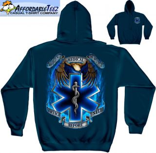 New Emergency EMT EMS Firefighter Police Tribute Hooded Sweatshirt C88