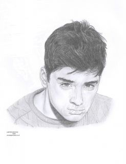 ZAYN MALIK One Direction Limited Edition drawing art picture print by