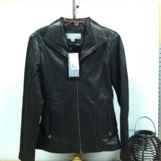 Womens Marc New York Andrew Marc Leather Jacket Black XSmall