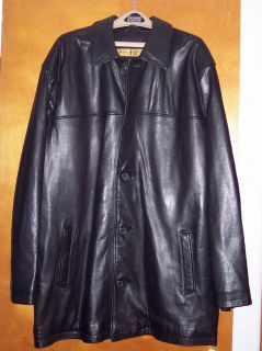 Mens 3 4 inch Butter Soft Kid Skin Leather Coat Jacket by Andrew Marc
