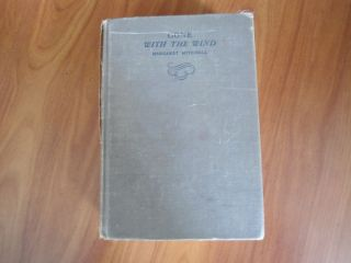 THE WIND ~ MARGARET MITCHELL HARDCOVER BOOK VINTAGE EARLY JANUARY 1937