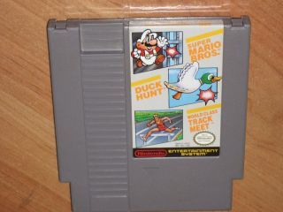 Super Mario Bros Duck Hunt World Class Track Meet Nintendo Nes Cleaned