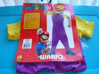 Super Mario Wario Halloween Play Outfit Includes Hat Small Size 4 6