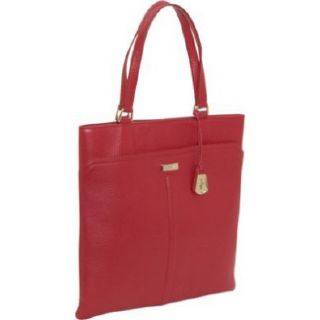 Cole Haan Village Marcy Market Tango Red Tote Leather Purse Handbag