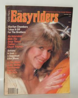 1980 EASYRIDERS MAGAZINE MARILYN CHAMBERS GOOD CONDITION NUMBER 89 452