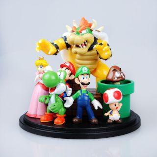 New Super Mario Bros Bowser Toad Luigi Princess Yoshi Goomba 1 3 Toy