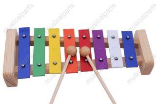 High Quality Colourful 8 Key Aluminum Xylophone Glockenspiel