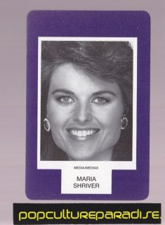 Maria Shriver News Anchor RARE Board Game Photo Card