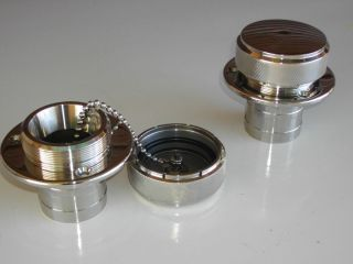 Marine Style Billet Stainless Fuel Gas Cap V Drive Boat Marine