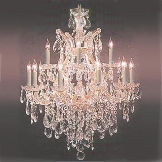 Maria Theresa 13 Light 2 tier Antique French Chandelier Gold/ Crystal