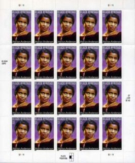 Marian Anderson 20 x 37 Cent U s Postage Stamps 2004