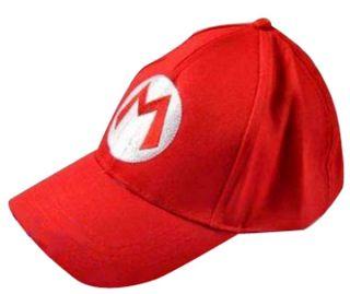 Super Mario Bros Cosplay Baseball M Hat Mario Red Cap FM0516A
