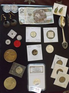 Quarter 1862 Indian Cent Marine Coin Tokens Junk Drawer Estate Lot
