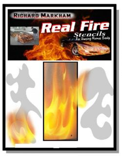 Richard Markham Real Fire Flame Stencils Airbrushing