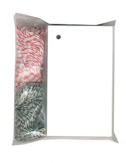 100 BLANK WHITE HANG TAGS 2 1 8x3 5 8 PRICE RED DK GREEN BAKERY TWINE