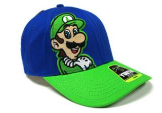 Super Mario Youth Kids Luigi Green Blue Hat Baseball Cap Snap Back