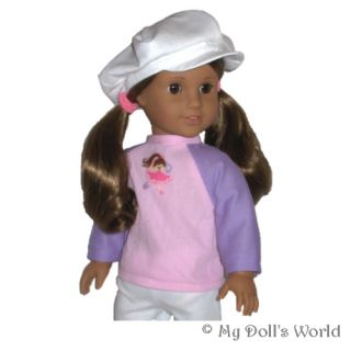 Shirt Fit American Girl Doll Pink Lilac Marisol Ruthie Dance