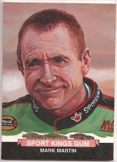 2012 Sportkings Series E MARK MARTIN Hand Painted Art Card Jared