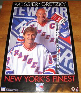 1996 Starline WAYNE GRETZKY MARK MESSIER full size poster Rangers new