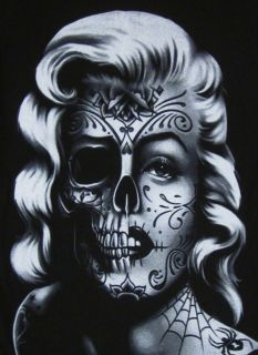 Tatto Images on Marilyn Monroe Tattoo Skull Graffiti David Gonzales Dga Junior Women T